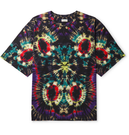Tie Dyed Cotton Jersey T Shirt by Dries Van Noten