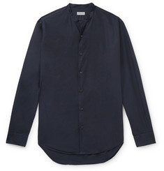 Dries Van Noten Slim-Fit Grandad-Collar Garment-Dyed Cotton-Poplin Shirt