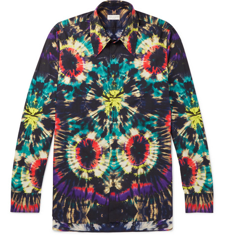 Tie Dyed Cotton Shirt by Dries Van Noten