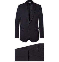 Dries Van Noten Navy Cotton-Blend Suit