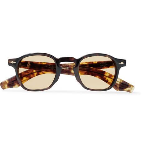 Zepherin Havana Round Frame Tortoiseshell Acetate Sunglasses by Jacques Marie Mage