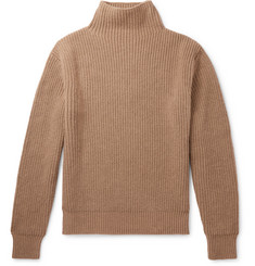Mr P. - Ribbed Virgin Wool Rollneck Sweater