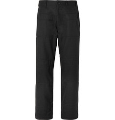 Comme des Garçons SHIRT Charcoal Panelled Twill Trousers