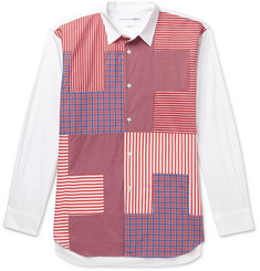 Comme des Garçons SHIRT Patchwork Checked Cotton Shirt