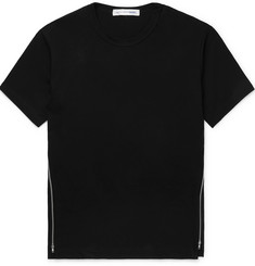 Comme des Garçons SHIRT Zip-Detailed Cotton-Jersey T-Shirt