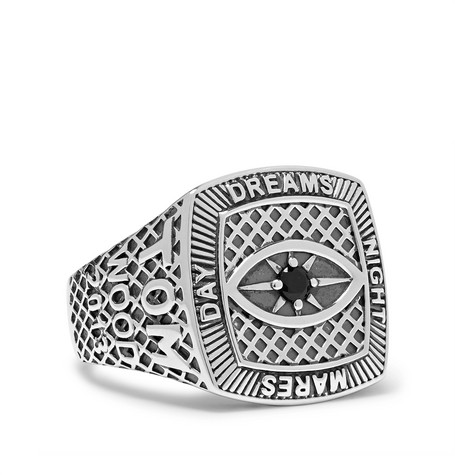 Champion Sterling Silver Crystal Ring by Tom Wood