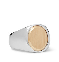 Tom Wood - Oval Goldtop Sterling Silver and 9-Karat Gold Ring