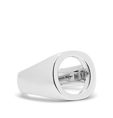 Tom Wood Open Oval Polished Sterling Silver Ring