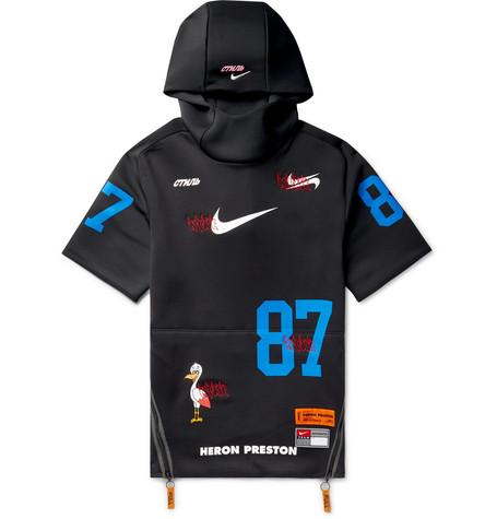Nike - + Heron Preston Embroidered Printed Neoprene Hoodie 2811758df