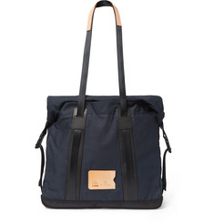 Bleu de Chauffe - Barda Leather-Trimmed Waxed Cotton-Ripstop Tote Bag
