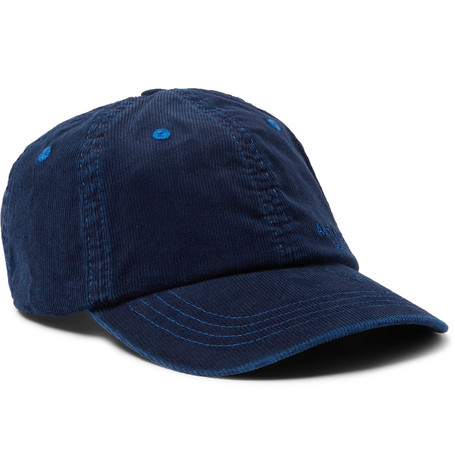 Acne Studios Accessories LOGO-EMBROIDERED COTTON-BLEND CORDUROY BASEBALL CAP