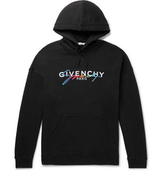 Givenchy - Logo-Embroidered Loopback Cotton-Jersey Hoodie