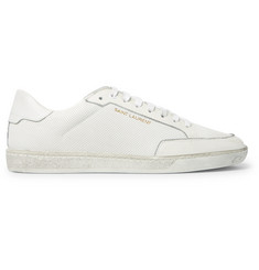Saint Laurent Perforated Leather Sneakers
