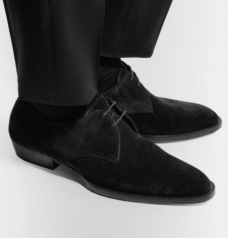 6abb479fed Wyatt Suede Derby Shoes in Black