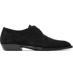 Saint Laurent Wyatt Suede Derby Shoes
