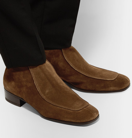 d626cd4c890 Men's Miles 30Mm Suede Buckle Ankle Boots in Brown