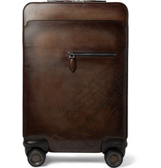 Berluti Formula 1000 Scritto Leather Suitcase