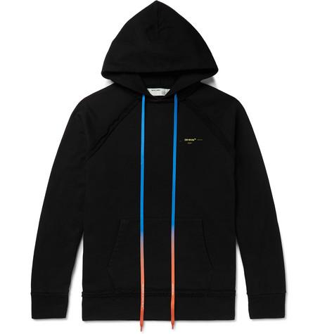 Off-White – Logo-print Loopback Cotton-jersey Hoodie – Black