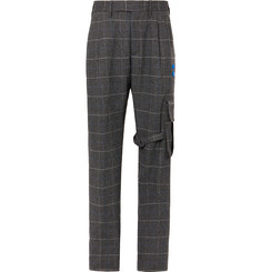 Off-White Checked Herringbone Cargo Trousers