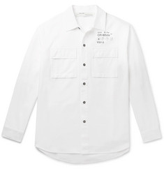 Off-White Oversized Logo-Print Cotton-Twill Overshirt