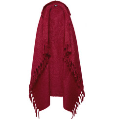 Undercover Embellished Wool Hooded Cape