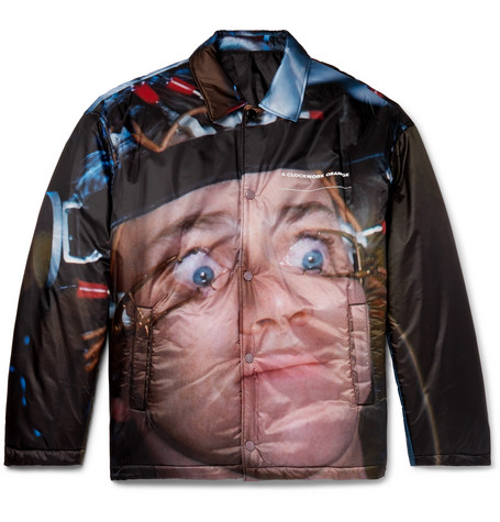Printed Quilted Nylon Jacket by Undercover