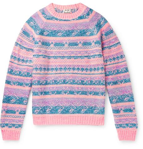 Karlos Fair Isle Jacquard Sweater by Acne Studios