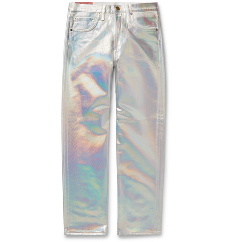 Acne Studios Slim-Fit Holographic Coated-Denim Jeans