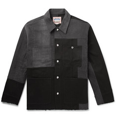 Acne Studios Mathers Oversized Patchwork Stretch-Denim Jacket