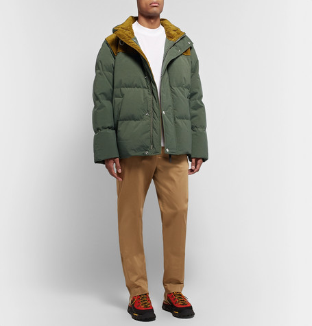 oversized-corduroy-trimmed-quilted-nylon-down-jacket by acne-studios