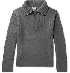 Acne Studios Korman Ribbed Wool-Blend Half-Zip Sweater