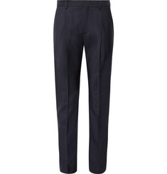 Acne Studios Midnight-Blue Boston Pleated Wool and Mohair-Blend Trousers