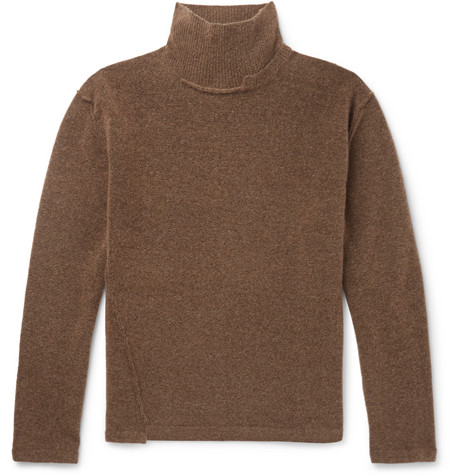 Distressed Knitted Rollneck Sweater by Isabel Benenato