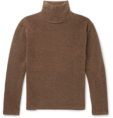 Isabel Benenato Distressed Knitted Rollneck Sweater