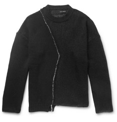 Isabel Benenato Asymmetric Knitted Sweater