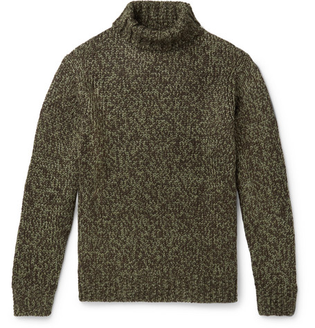 Mélange Knitted Rollneck Sweater by Camoshita