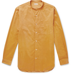 Camoshita Grandad-Collar Cotton-Corduroy Shirt