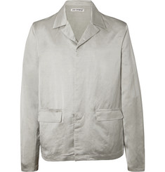 Our Legacy Silver Piraya Unstructured Linen-Blend Blazer