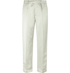 Our Legacy Wide-Leg Metallic Linen-Blend Trousers