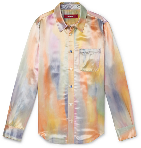 Sander Printed Satin Shirt by Sies Marjan