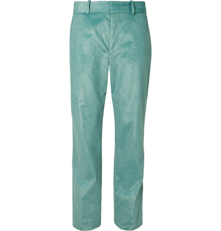 Toby Cotton Blend Corduroy Trousers by Sies Marjan