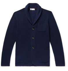 Brunello Cucinelli Shawl-Collar Wool-Blend Cardigan