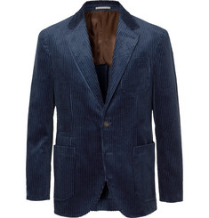 Brunello Cucinelli - Royal-Blue Cotton-Corduroy Blazer