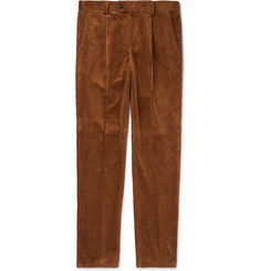 Brunello Cucinelli - Pleated Cotton-Corduroy Trousers
