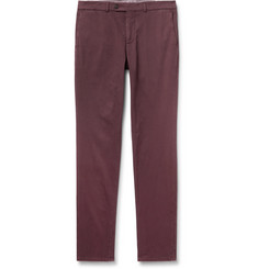 Brunello Cucinelli Slim-Fit Cotton-Blend Twill Trousers
