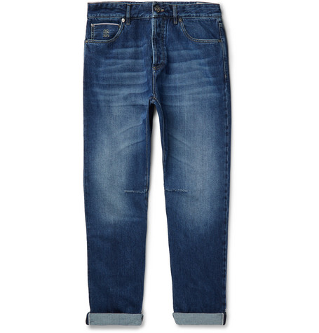 BRUNELLO CUCINELLI | Brunello Cucinelli - Selvedge Denim Jeans - Blue | Goxip