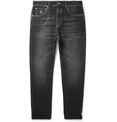 BRUNELLO CUCINELLI | Brunello Cucinelli - Selvedge Denim Jeans - Charcoal | Goxip