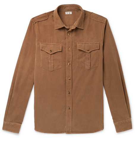 Cotton Corduroy Shirt by Brunello Cucinelli