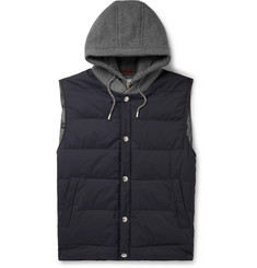 Brunello Cucinelli - Cashmere and Quilted Shell Hooded Down Gilet