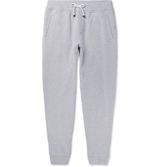 Brunello Cucinelli - Mélange Fleece-Back Stretch-Cotton Jersey Sweatpants